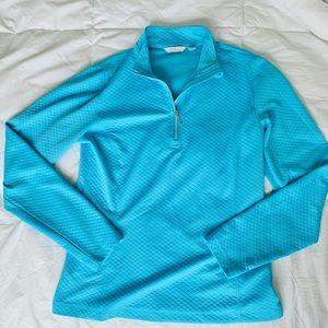 Lady Hagen Blue Quarter Zip Top
